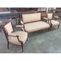 An edwardian rosewood and mahogany 3-piece salon suite etc