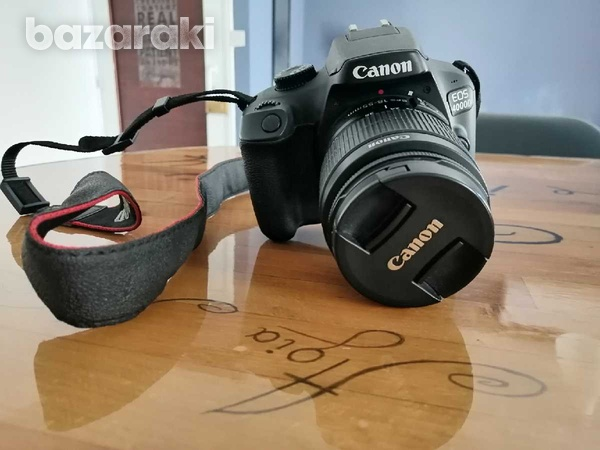 Canon eos 4000d + 18-55mm dc iii + 2 batteries-2