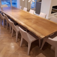 Huge african iroko wood dining table