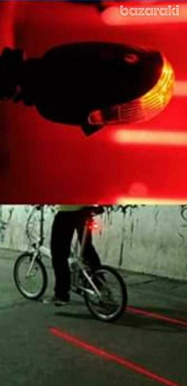 Bicycle rear led light, with five mode and laser led line lights. new-3