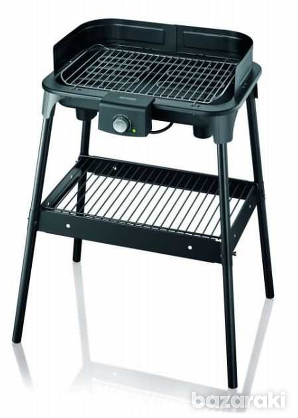 Severin grill table with stand, 2500w, high quality non stick xxl coat-1