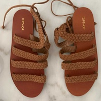 Top shop camel new sandals 37-38 size