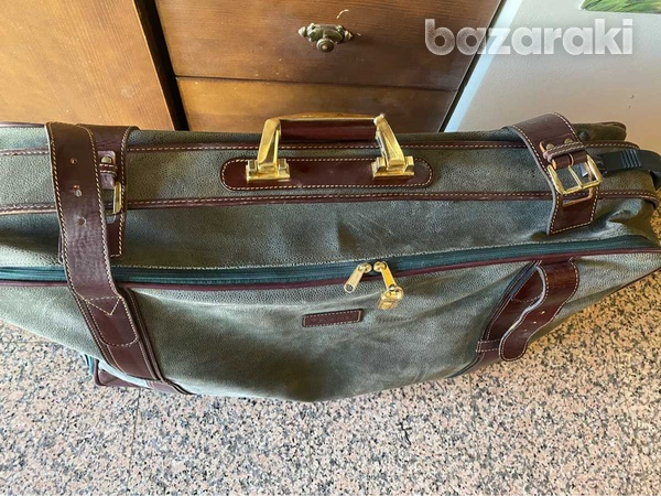 Genuine leather travel bag-2