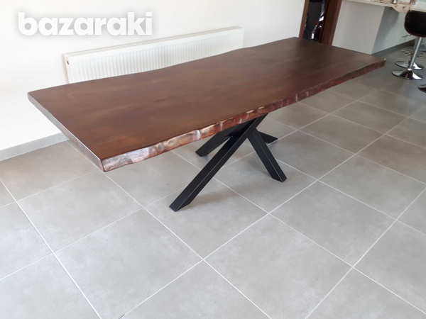 Dining table natural wood-2