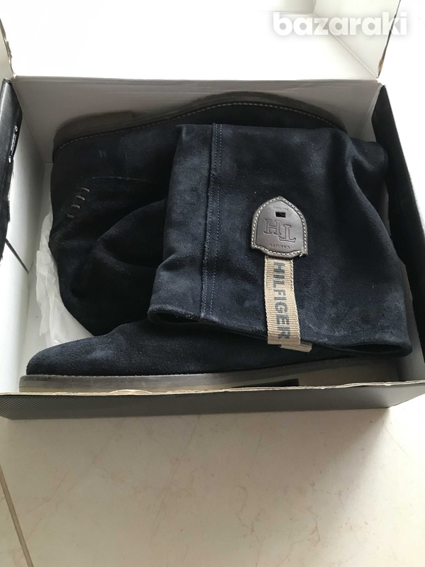 Tommy hilfiger suede boots-1