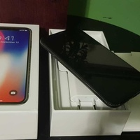 Apple iphone x 64gb and 256gb space grey with accessories
