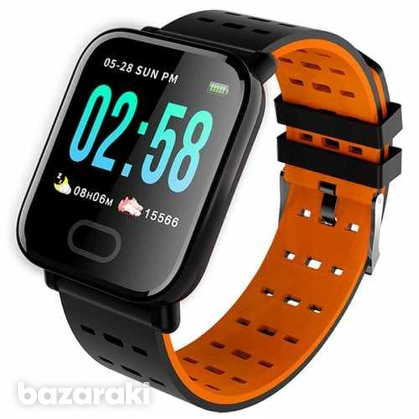 Bluetooth smart watch blood pressure heart rate monitor fitness univer-4