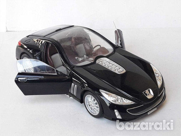 Burago collectible diecast model car peugeot 907 1/18 scale in good co-6