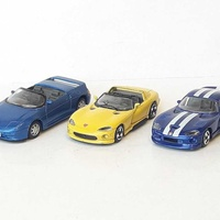 Lot of 3 collectible diecast model cars 1/36, 1/43