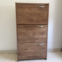 Shoe cabinet with 3 compartments size 117h x 63.50w x 24d cm.