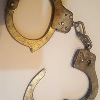 Old steel handcuffs