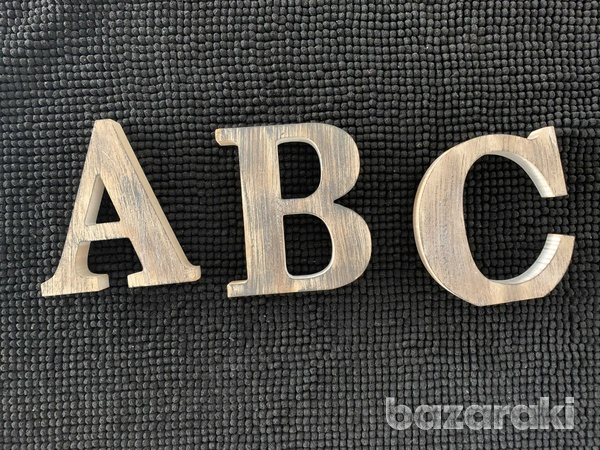 Zara home letters a b cdecoration from wood-2