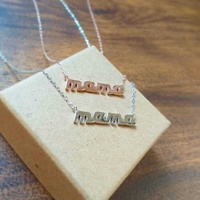New silver 925 necklace mama