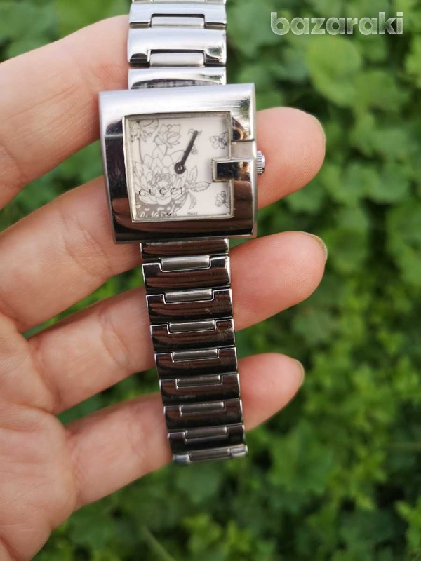 Floral gucci ladies watch, like new-5