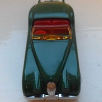 Matchbox int'l ltd - rare green jaguar xk120 1 57 - red interior - eng