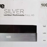 We silver 1000 gb hard disk multimedia recorder and player