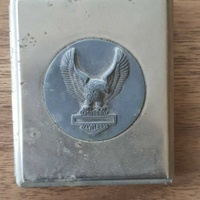 Vintage - harley davidson motorcycle eagle metal case