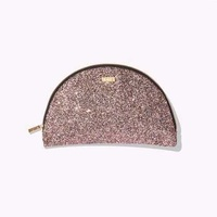 Tarte half moon sequin cosmetic bag