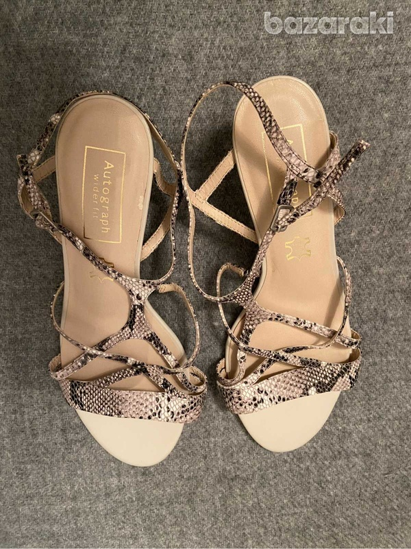 Marks and spencer autograph snake leather sandals-1