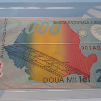 Limited edition romania 2000 lei first polymer banknote in europe