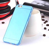 Case for iphone 6 6s plus tpu silicon ultra thin 0.3mm blue
