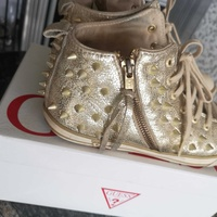 Guess gold trainers size 38