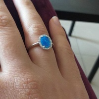 New opal silver 925 ring