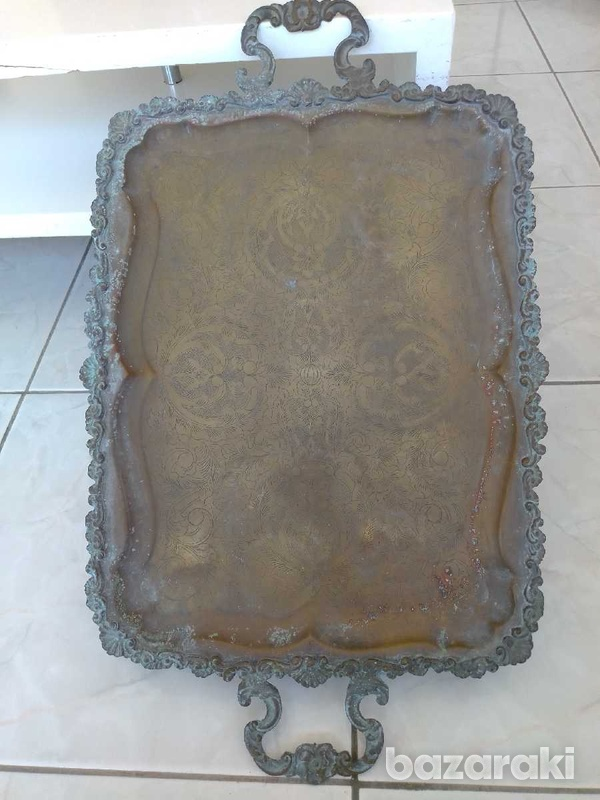 Tray antique from the year 1900.δισκος αντίκα από το έτος 1900.-3