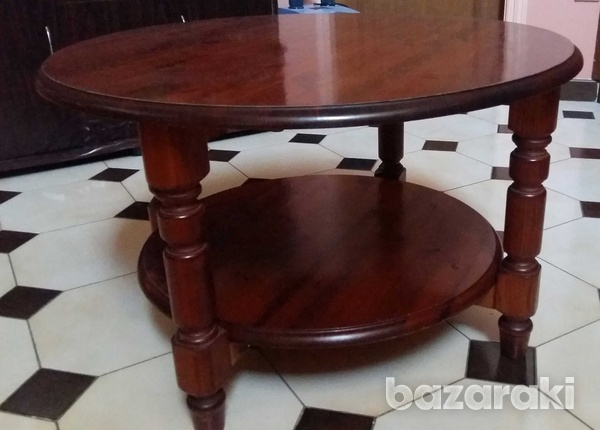 Solid wooden pine rosedale round coffee table-4
