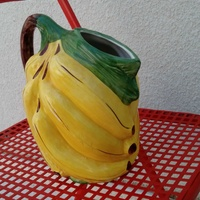 Italian handpainted retro banana shaped vase
