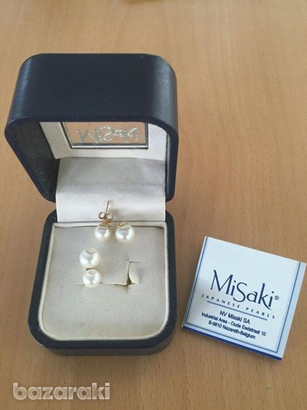 Misaki pearl earrings new original