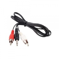Audio cable 3.5mm jack to 2xrca m/m 1.8m