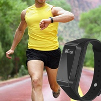 K68 smart sports fitness bracelet hd 1080p camera mini audio video rec