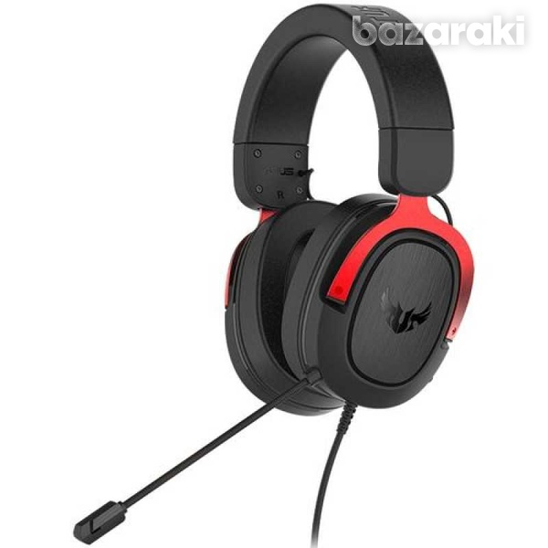 Asus tuf gaming h3 7.1 - wired gaming headset - 20hz 20khz - red - new - 1 year-1