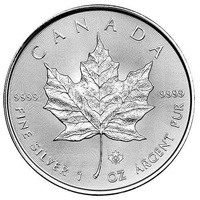 1 oz 2015 canada .9999 silver maple leaf 5 gem brilliant round