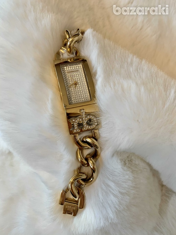 Designer rocco barroco gold bracelet watch swarovski diamantés-2
