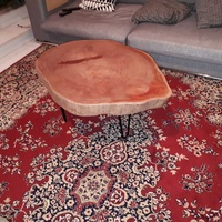 Red eucalyptus coffee table