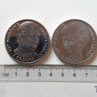 Charles and diana 10th wedding anniversary - 2 crowned-sized coins