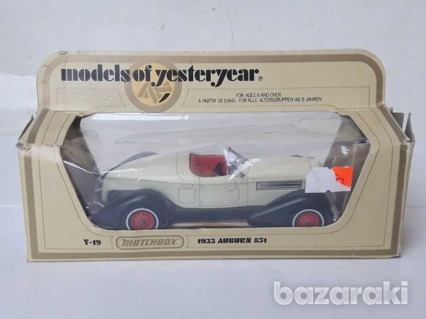 Collectible matchbox diecast car models of yesteryear y19 1935 auburn-1