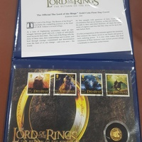 The lords of the ring gold coin cover