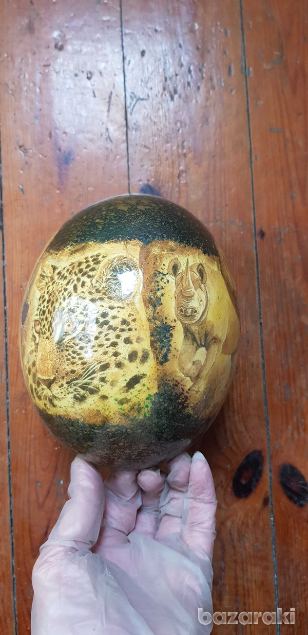 Hand painted ostrich egg-3