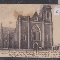Uk st patrick's cathedral old postcard