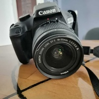 Canon eos 4000d + 18-55mm dc iii + 2 batteries