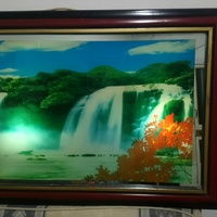 Picture frame with light up, movement, sound of nature up