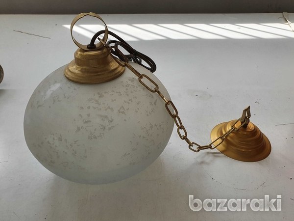 Vintage electric ceiling lamp- 70s-1