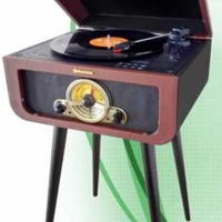Hif-1580bt standing vintage turntable with 4 wooden legs,encoding rec
