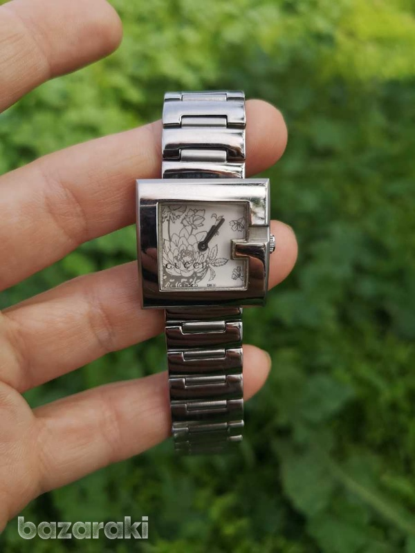 Floral gucci ladies watch, like new-1