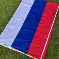 Huge russian/serbian flag 150x100 cm with a pole