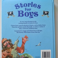 Stories for boys hardcover book