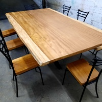 Brand new african iroko dining table with 8 chairs